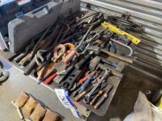 Assorted Hand Tools, including ratchets, wrenches,