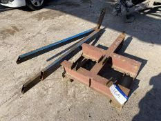 Fork Lift Truck Lifting Jib Attachment, with steel
