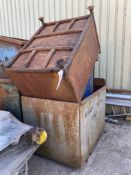 Four Steel Bins, each up to approx. 1.1m x 1.05m x