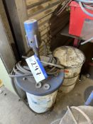 Mobile Pneumatic Grease Dispenser, with 50kg drum