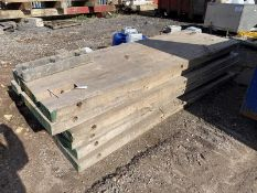 Six Timber Masts, each approx. 1m x 3m