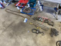Assorted Lifting Components, including D shackles,