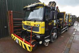 Volvo FL220 ROAD RAIL 4x2 FLAT TRUCK FITTED CRANE,
