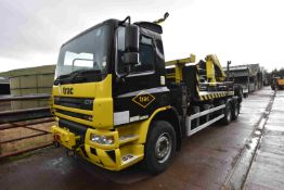 DAF CF75.310 ROAD RAIL 6x4 FLAT TRUCK FITTED CRANE