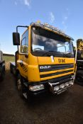 DAF CF 75.310 6x2 BOARDED FLAT TRUCK, registration