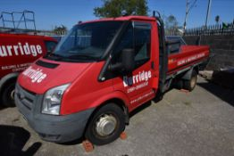 Ford TRANSIT 350MWB 100ps TDCi DROPSIDE FLAT, reg no. NA58 UNX, date first registered 28/10/08, with