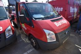 Ford 100T350 MWB TDCi DROPSIDE FLAT, reg no. NA63 HRR, date first registered 29/11/03, tested to