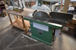 Wadkin Bursgreen CIRCULAR SAW BENCH, serial no. 85002, fitted saw blade, approx. 660 mm dia. with