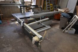 CMC SE3200 DIMENSION SAW, serial no. 321672, year of manufacture 2000, 900kg, with scoring blade,