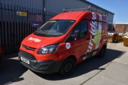 Ford CUSTOM 290 L1 FWD 2.2 TDCi 100ps LOW ROOF PANEL VAN, reg no. YG14 WXO, date first registered