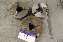 Four Jaw Chuck, 315mm dia. and Two Three Jaw Chuck