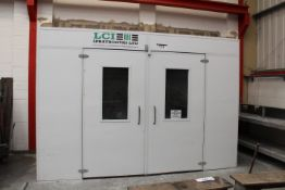 LCI GAS FIRED SPRAY BOOTH BAKE UNIT, (installed ne