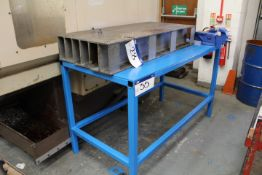 Sealey 150mm Engineers Bench Vice, on steel bench,