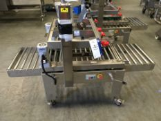 Stainless Steel Mobile Box Taper, top & bottom, approx. 900mm x 1750mm x 1400mm high (understood