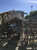 Lynnmoore Engineering Elevator, approx. 6000mm long x 1100mm wide x 2700mm high, (belt missing -