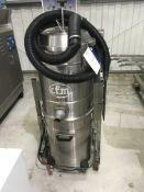 CFM INDUSTRIAL VACUUM CLEANER, serial no, 00AE315, 1300mm long x 700mm wide x 1600mm high, £50
