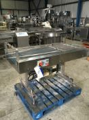Converging Belt Conveyor, 1800mm long x 560mm wide on belt x 2400mm high, £30 lift out charge
