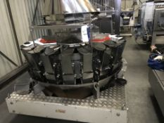 Yamato 20 Head Multihead Weigher, approx. 1700mm x 1700mm x 2100mm high, £100 lift out charge (ref