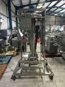 Mobile Powder Filler, approx. 1350mm x 1100mm x 2400mm high, lift out charge £50
