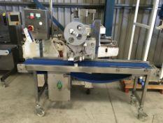 Herbert Top Labeller, belt width approx. 300 mm, 700mm x 2000mm x 1900mm high, £50 lift out charge