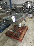 Converging Belt Conveyor, 1800mm long x 560mm wide on belt, 2400mm high, £30 lift out charge