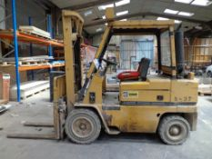Caterpillar VC60C DIESEL FORKLIFT TRUCK, S/N 44y1448/4563, swl 3000KG, Solid Tyres, 3730mm Lift,