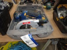 RYOBI cw-1801/165 18V Cordless Circular saw c/w 2 batteries, charger and case