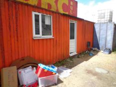 30ft Steel Container, Welfare Cabin c/w contents, (will need electrics disconnecting)