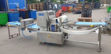 Total Bakery Engineers Multi Roll Sheeting Machine, c/w guillotine, roller and twelve multi roller