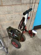 Power Vamp Dual Voltage Battery Charger, 12V & 24V, with fitted trolley and leads (reserve removal