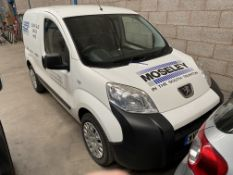 Peugeot BIPPER PROFESSIONAL HDI DIESEL PANEL VAN, registration no. WV62 YXW, date first registered