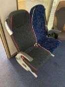 Two Fabric Upholstered Executive Coach Seats
