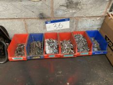Assorted Nuts & Bolts, as set out in stackable bins