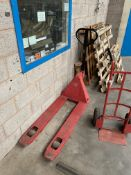Sealey PT1150 2000kg cap Hand Hydraulic Pallet Truck, forks approx. 1.2m long
