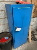 Steel Single Door Flammables Cabinet, with welding consumables and equipment