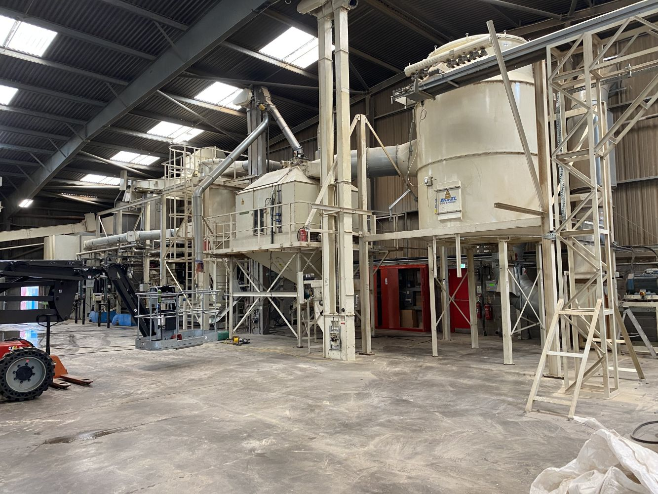 Private Treaty - Modern Biomass Pellet Production Line, Wood Shredding/ Chipping Line, Conveyors & Elevators, Air Compressors and Steam Boiler