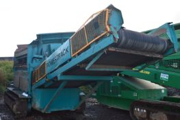 Powerscreen POWER TRACK MOUNTED AGGREGATE SCREEN, serial no. 72 15 651, indicated hours 8429 (at