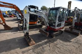 Takeuchi TB016 1.5T TRACKED EXCAVATOR, serial no. 116116442, year of manufacture 2014, indicated