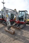 Takeuchi 2B228 3T TRACKED EXCAVATOR, serial no. 122803240, year of manufacture 2014, 17.8kW engine