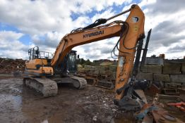 Hyundai HX220L TRACKED EXCAVATOR, serial no. 993, year of manufacture 2018, indicated hours 1885 (at