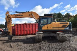 Hyundai HX300L 30T TRACKED EXCAVATOR, VIN HHKHK801TH0000492, year of manufacture 2017, indicated
