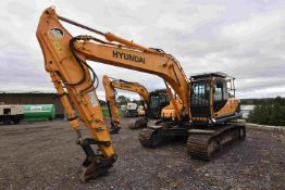 Hyundai R220LC-9A 22T TRACKED EXCAVATOR, serial no. 757, year of manufacture 2016, indicated hours