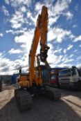 Hyundai R220 20T TRACKED EXCAVATOR , serial no. HHKHZ610JG0000758, year of manufacture 2017, approx.