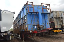Swan TRI AXLE STEP FRAME TIPPING SEMI TRAILER¸ chassis no. 5243, date 7/10, 38000kg gross weight (