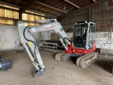 Takeuchi TB260 TRACKED EXCAVATOR, serial no. 126002686, year of manufacture 2018 indicated hours