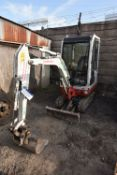 Takeuchi TB016 1.5T TRACKED EXCAVATOR, serial no. 11620753, year of manufacture 2010, indicated