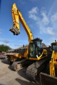 JCB JS160LC 18T TRACKED EXCAVATOR, PIN 1059080, engine power 81/2200, year of manufacture 2005,