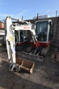 Takeuchi TB228 3T TRACKED EXCAVATOR, serial no. 122802571, year of manufacture 2013, 81kW engine,
