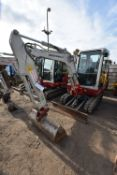 Takeuchi TB228 3T TRACKED EXCAVATOR, serial no. 122803241, year of manufacture 2014, 17.8kW engine