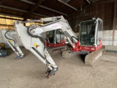 Takeuchi TB260 COMPACT TRACKED EXCAVATOR, serial no. 126001.690, year of manufacture 2016, indicated